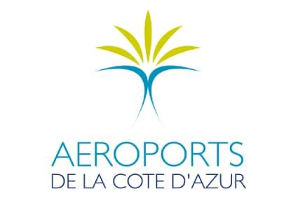 Logo nice aeroport pour transfert taxi et vtc